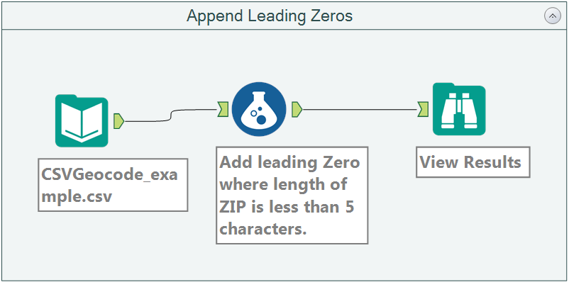 Append Leading Zeros Workflow